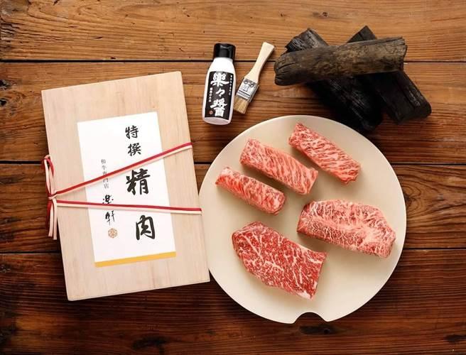 新光三越台北信義A4 B1「樂軒PREMIUM」和牛精肉舖,提供饕客美食選擇。(新光三越提供)