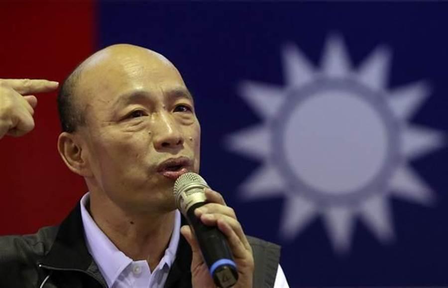 兩岸外交休兵?韓國瑜拿阿拉丁神燈精靈來比喻。 (中時資料照)