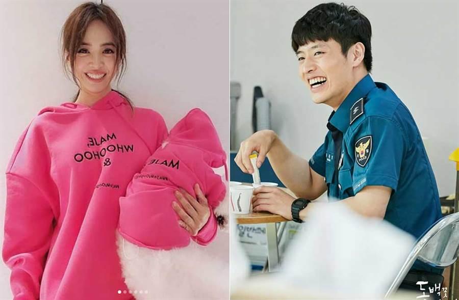 蔡依林公布「腦公」身分,是韓星姜河那。(取材自蔡依林IG、KBS臉書)