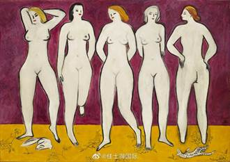 法國華裔畫家常玉《五裸女》將成年度亞洲最高價拍品
