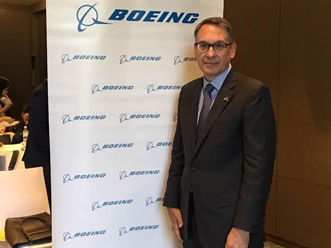波音商用飛機集團行銷副總裁蘭迪.廷賽斯(Randy Tinseth)。(陳祐誠攝)
