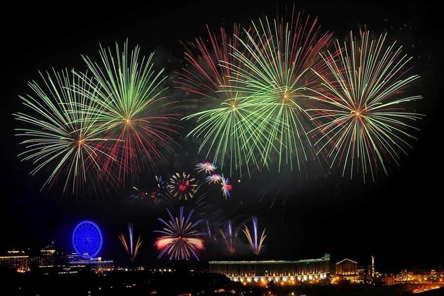 (義大世界今年跨年夜仍將施放999秒煙火秀。圖:義大世界提供)