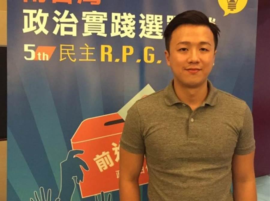 國民黨新生代次團「草協聯盟」發起人李正皓。(本報資料照片)