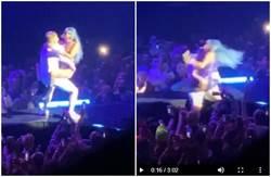 Lady Gaga尬男上下抖動玩「火車便當」 下一秒摔下舞台GG了