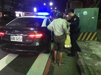 老翁為買包子走20公里累癱  巡警發現載送返家