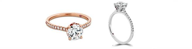 SLOANE SILHOUETTE戒指,左至右為玫瑰金款式/白K金,價格未定