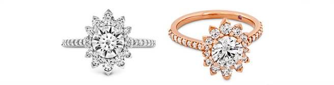 BEHATI SAY IT YOUR WAY戒指,左至右為白K金/玫瑰金款式,價格未定