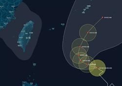 浣熊颱風將被槽線勾走 北轉向日本琉球群島