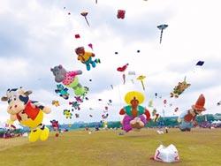 国际风筝节 6国好手振飞中庄天空
