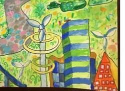 2050年的台中?小學生畫自我發電建物創意十足