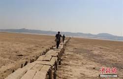 鄱陽湖水位持續走低 湖底600年古橋現身