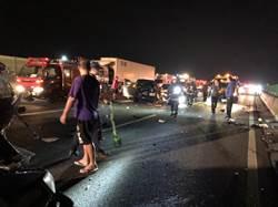 國3南下三鶯段4車追撞 7傷送醫