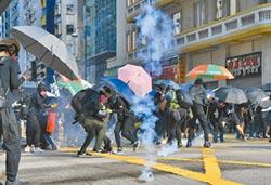 民陣違法遊行九龍 爆警民衝突