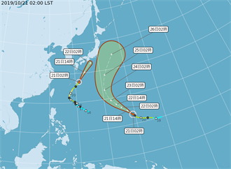 吳德榮:浣熊將成溫帶氣旋影響日本