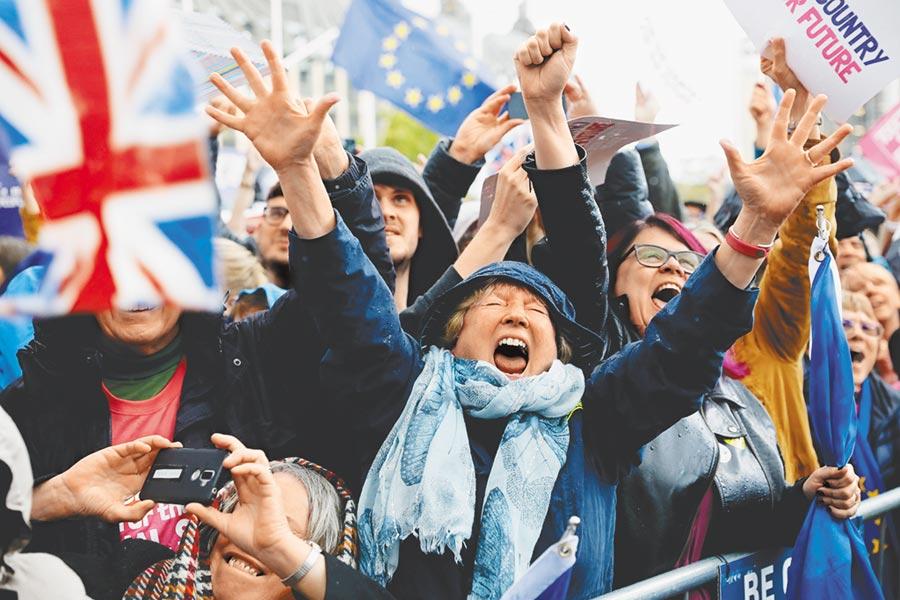 脫歐協議前景未明,英國民眾反應兩極。(路透)