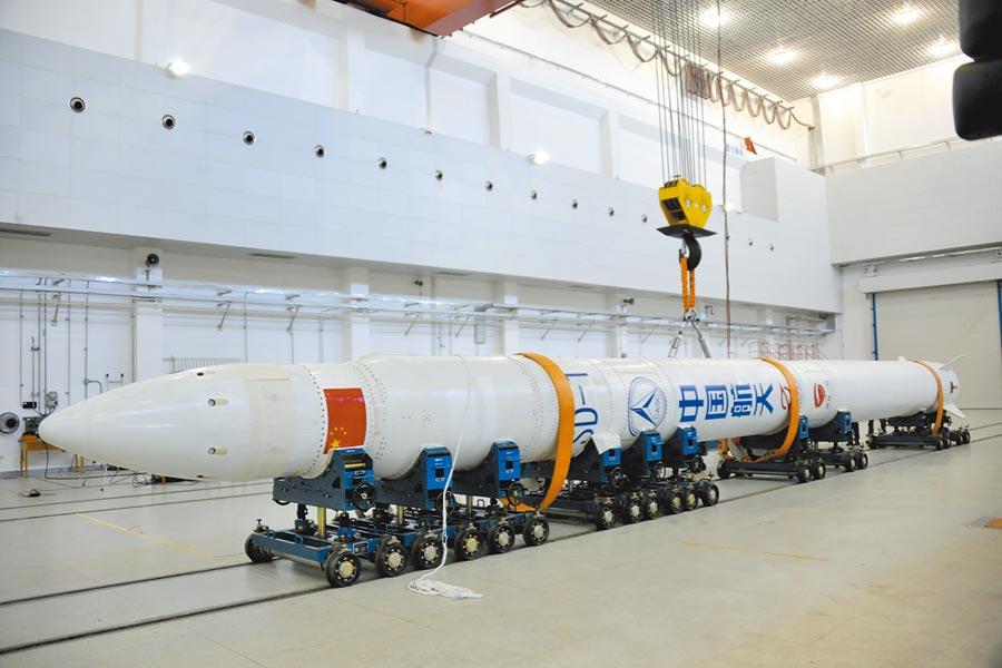 正在廠房組裝的捷龍一號火箭。(中新社資料照片)