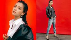 首位亞洲女性登V雜誌封面!Angelababy油頭搭皮衣帥炸