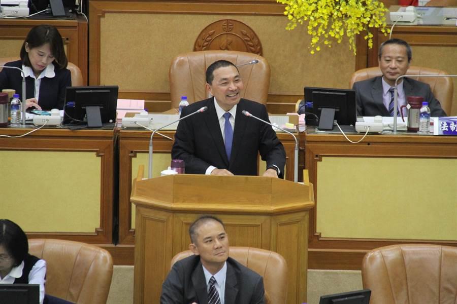 新北市長侯友宜今市政總質詢第一天。(譚宇哲攝)