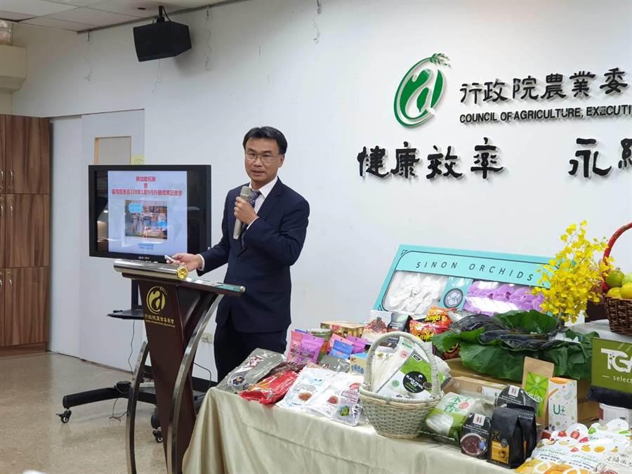農委會主委陳吉仲,今天酸韓國瑜的農業政策自相矛盾,讓人不可置信。(陳人齊攝)