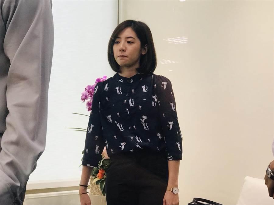 北市府副發言人「學姐」黃瀞瑩恐面臨歸建資訊局。(張穎齊攝)