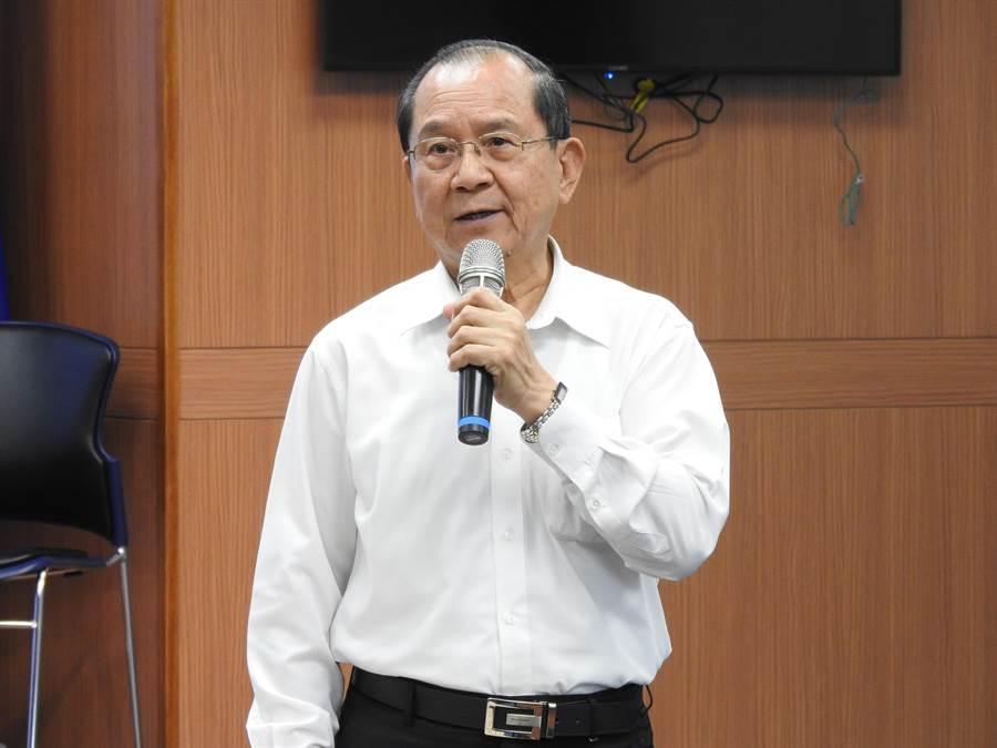 黨副秘書長兼理組發會代理主委杜建德今天下午與媒體茶敘。(趙婉淳攝)