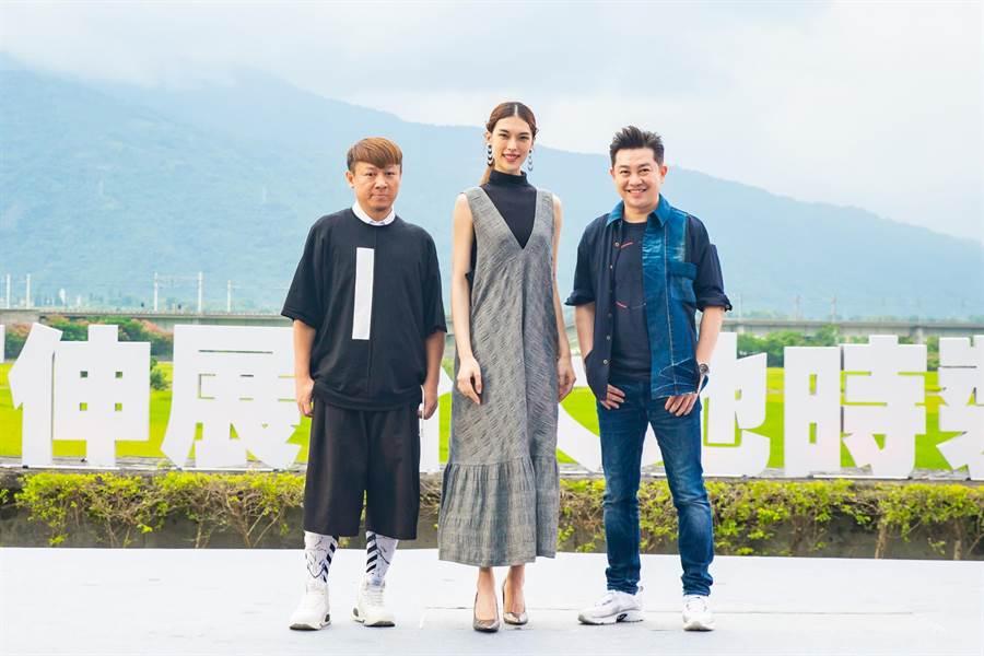 「2019玉富伸展台 大地時裝秀」由安德烈(左起)、王思偉及李明川擔任評審。(伊林娛樂提供)