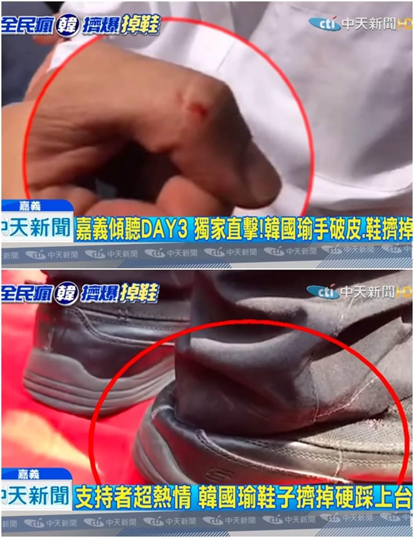 許多民眾看到韓國瑜時,就是要趁機緊抓著他的手不放。(圖/中天新聞)