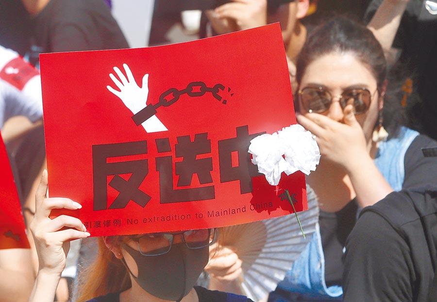 陳同佳案堪稱香港反送中運動的導火線,如今更引爆台港政府口水戰。(美聯社)
