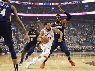 NBA》羅瑞延長建功 暴龍開幕戰獵殺鵜鶘