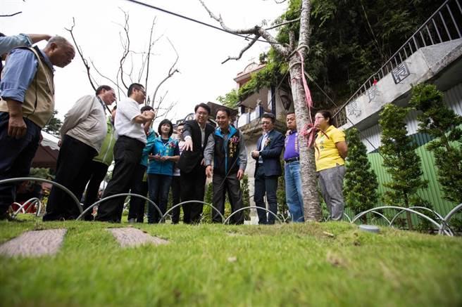 基隆啟用第一座環保樹葬區「崇璞園」,推廣北北基市民免費使用環保葬法。(基隆市府提供/許家寧基隆傳真)
