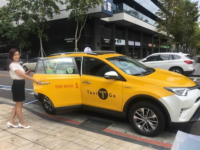 Line Taxi叫車平台今正式上線,從叫車到下車支付,全部可在LINE中全部搞定。(洪凱音攝影)