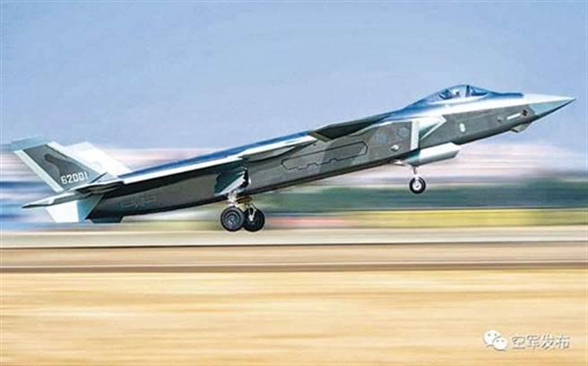 中國大陸自製的殲-20首次進入最高速戰機Top10排行榜。(圖/中共空軍)