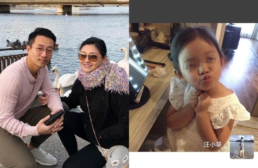 汪小菲和大S育有5歲女兒小玥兒。(圖/翻攝自汪小菲微博)