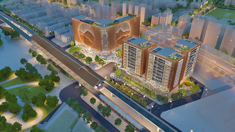 麗寶集團旗下麗寶建設以43億元投標「捷運圓山站西側都更案」,並順利完成以最優申請人綜合評選,獲得最優申請人資格。(麗寶集團提供)