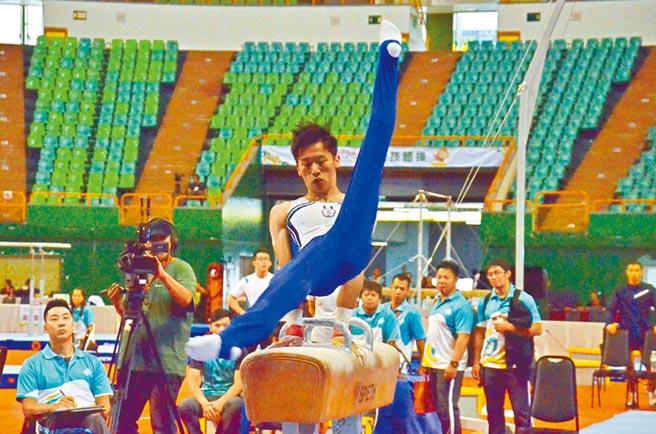 「鞍馬王子」李智凱本屆全運會總計拿下3金1銀3銅佳績,未來目標放在明年東京奧運,希望奪下獎牌。(賴佑維攝)