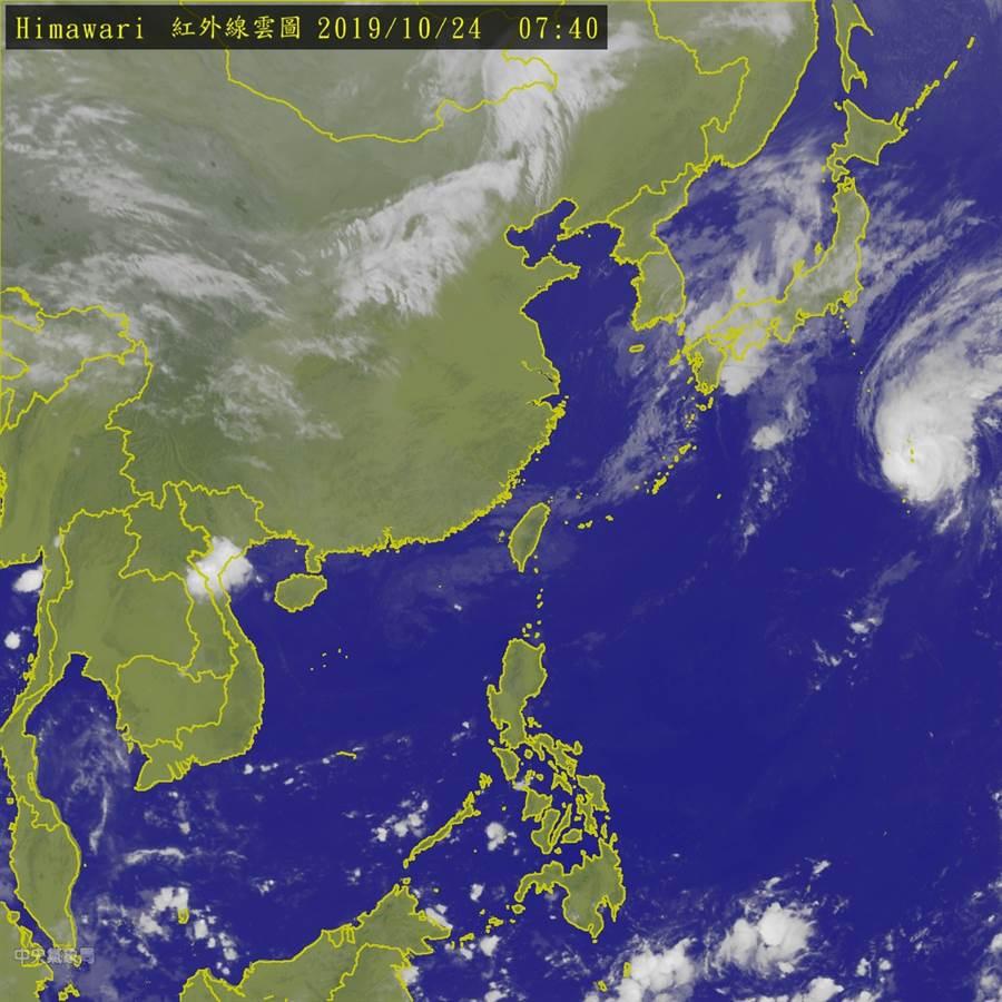 周日變天 李富城:「麥德姆」颱風可能生成。(圖為衛星雲圖 翻攝自 氣象局)