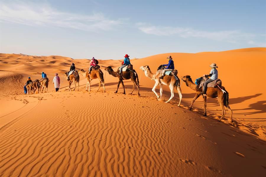 一生必去一次的撒哈拉沙漠。(圖/摘自shutterstock)