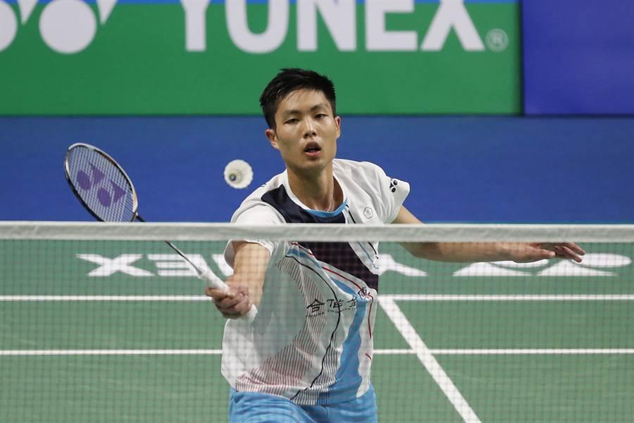 周天成在福州羽球公開賽第一輪擊敗同胞王子維晉級。(資料照/美聯社)