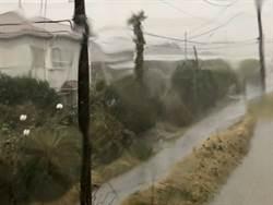 低氣壓挾暴風雨侵襲東日本如同颱風來襲