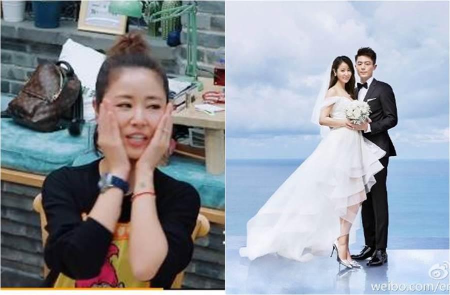 林心如、霍建華2016年結婚,育有一女「小海豚」。(圖/取材自騰訊視頻幸福三重奏、新浪娛樂微博)