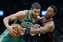 NBA》東區雙強對決 綠軍三槍轟垮暴龍