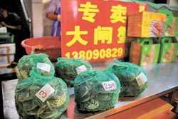北京10家店 僅1家有正牌蟹扣