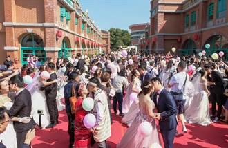 新竹縣民集團結婚 36對新人喜結良緣