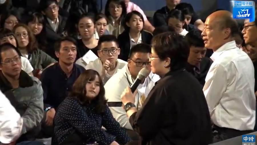 韓國瑜(右2)參加青年論壇,張善政(右1)與蔡玉玲(右3)都參加。(圖/取自中時電子報)