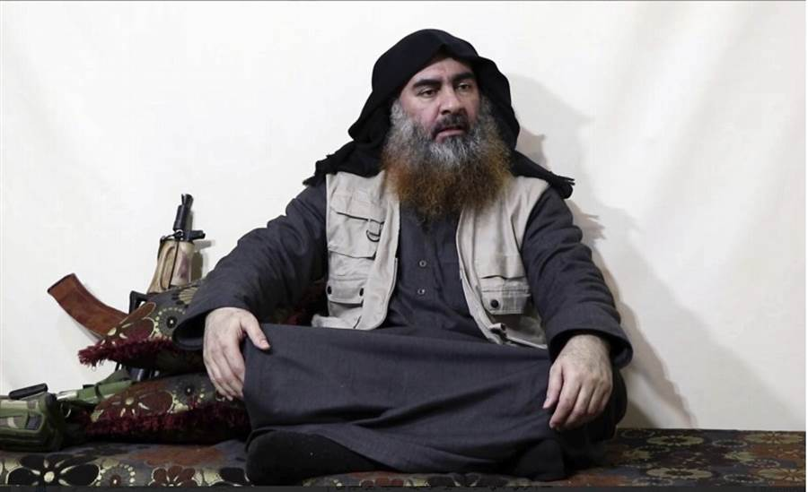 IS首領巴格達迪,先是蓋達組織成員,之後自立IS武裝集團。(圖/美聯社)