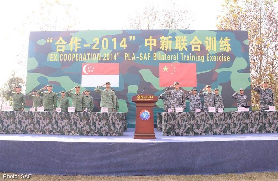 大陸與新加坡早已有聯合演訓,往後會更為頻繁。(圖/新加坡國防部)