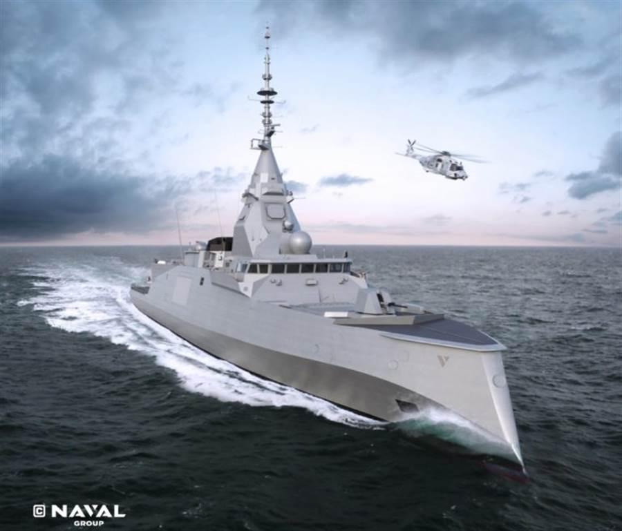 法國始建最新巡防艦羅納德上將號。(圖/ATLAS Defense)