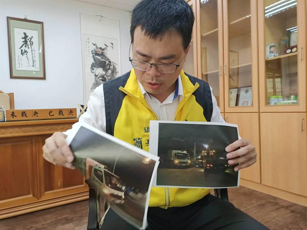 大林鎮長簡志偉表示,日前有位清潔隊員在值勤時發生車禍,卻沒有人力替代,讓該隊員必須負傷執行勤務。(張毓翎攝)