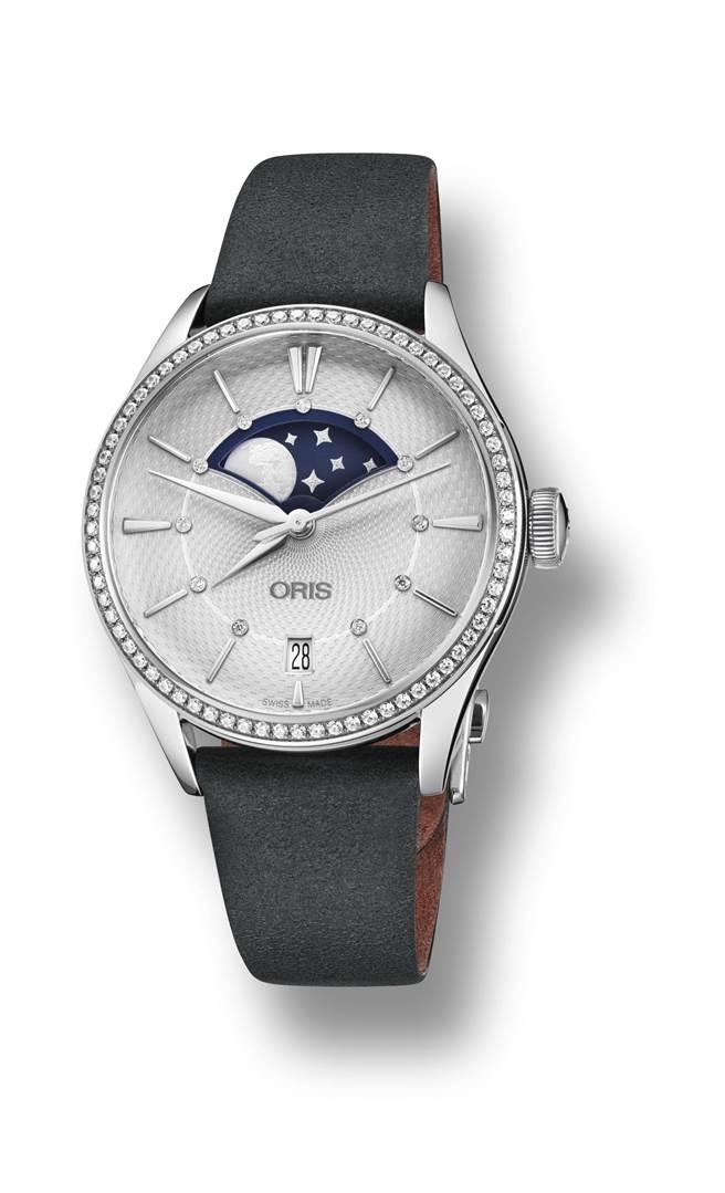 ORIS Artelier Grande Lune大視窗月相鑽表,10萬8000元。(ORIS提供)