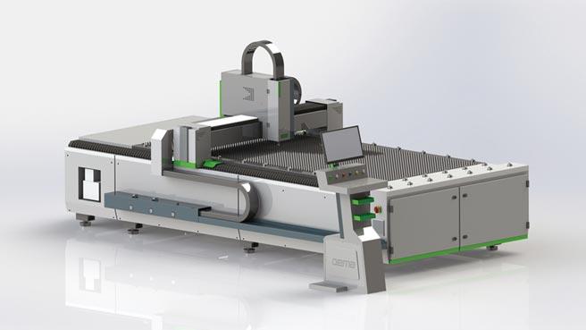 皓茂最新推出的太極雷射切割機。圖/業者提供